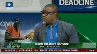 Analysts Differ On Senator Omo-Agege's Suspension   State Of The Nation  