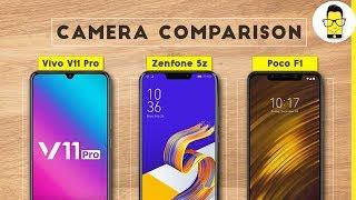 Vivo V11 Pro vs Asus Zenfone 5z vs Poco F1 Camera Comparison: it's tight