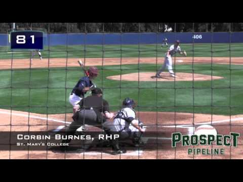 Corbin Burnes Prospect Video, RHP, St. Mary's College .