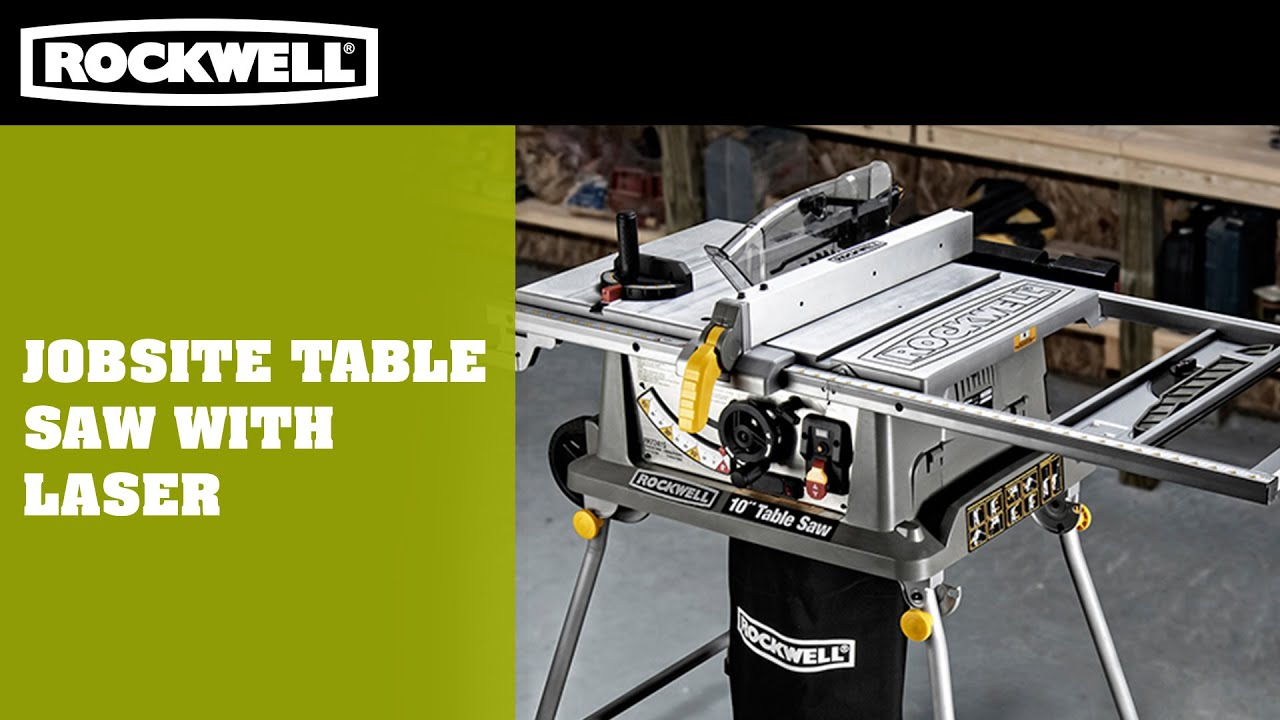 Jobsite Table Saw With Laser   YouTube