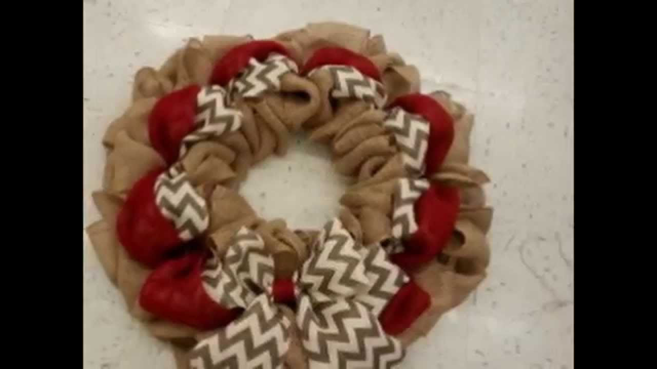 Slideshow Tutorial Of How To Make This Burlap Wreath Youtube