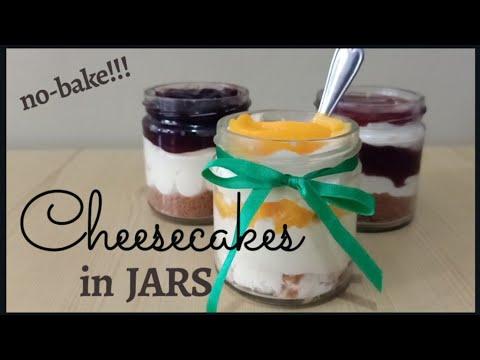 3 No-Bake CHEESECAKES in Jars!!! #Blueberry #Raspberry #PeachMango