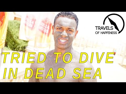 Trying to dive in Dead Sea