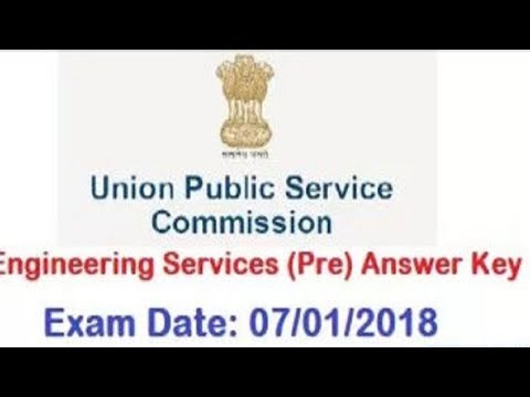 UPSC IES Answer Key 2018 | UPSC Engineering Services Exam Paper Solution