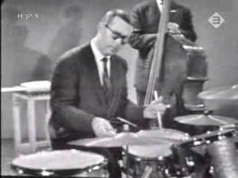 "Dave Brubeck with his band performing the ""Take Five"" in Germany in 1966."
