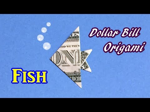 Dollar Bill Origami Fish Easy , Fast And Simple! How To Fold Fish Out Of $1