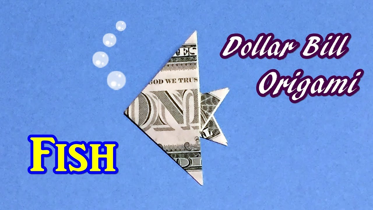 Dollar bill origami fish easy fast and simple how to fold fish dollar bill origami fish easy fast and simple how to fold fish out of 1 jeuxipadfo Image collections