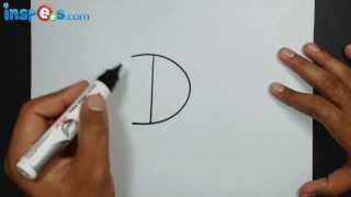 How to Draw a Fish from Alphabet D