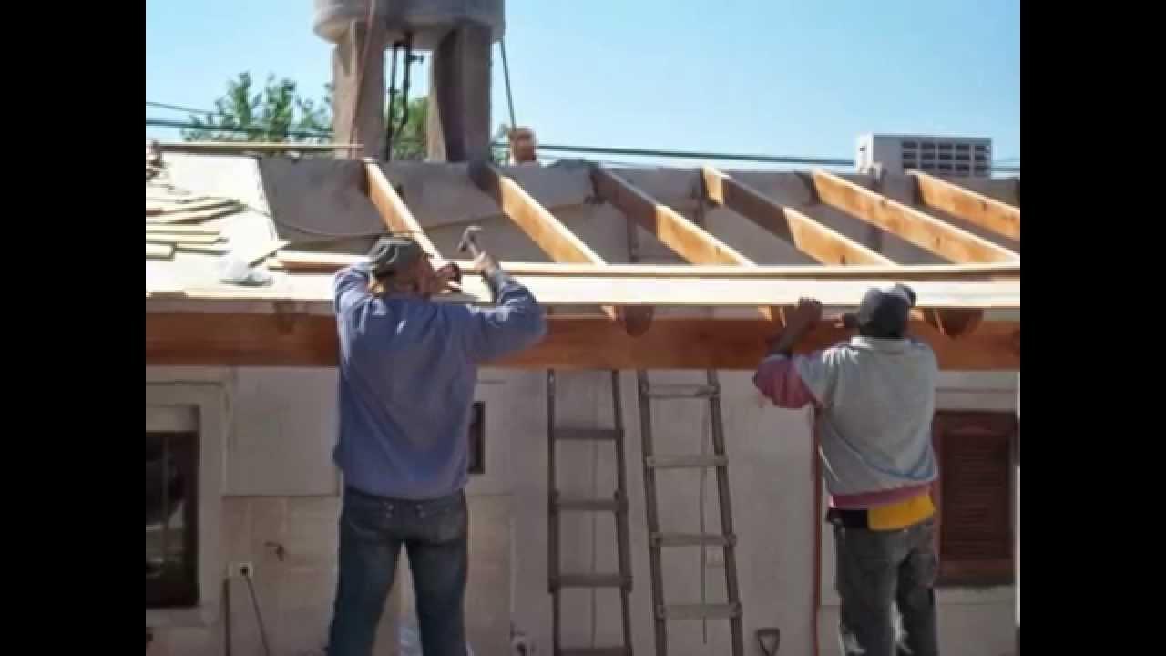 Como hacer un techo de madera tuclame la rioja argentina for Como encielar un techo
