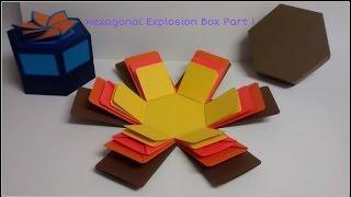 #diy Art and #craft #tutorial : #howto make Basic Hexagonal Explosion Box Part 1