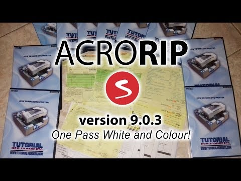 How to install and setup AcroRip 9.0.3