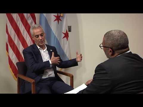 Mayor Rahm Emanuel interviewed by Alderman Walter Burnett, Jr.