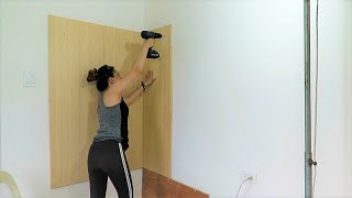 Building a Wall Hanging Dressing Cabinet with Shelves