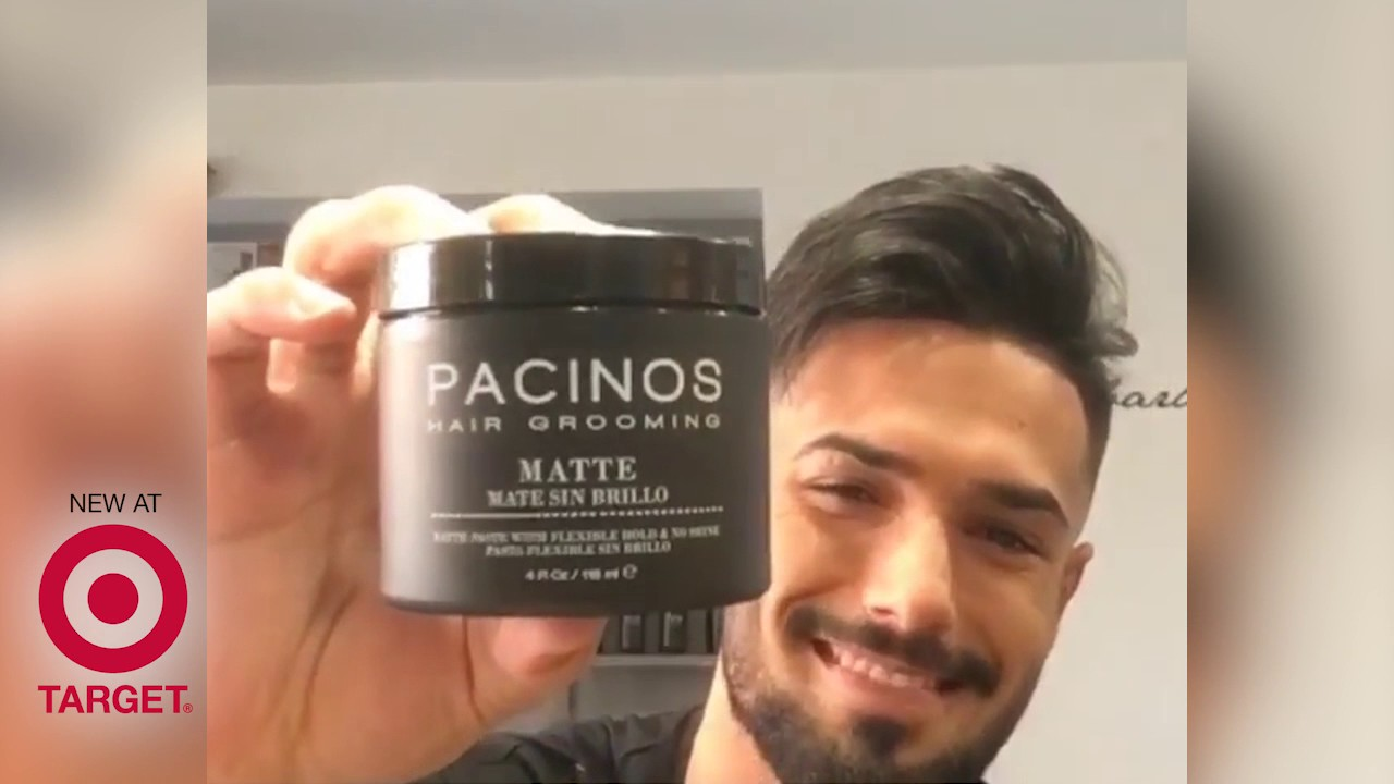 How I Style My Hair Using The Pacinos Matte Paste Youtube