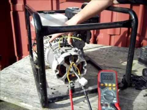 Electricity Generator Brushless Alternator Testing - Generator with