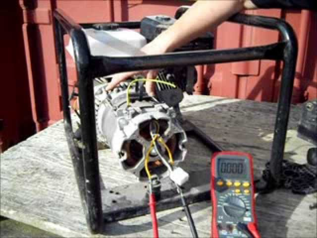 [NRIO_4796]   Electricity Generator Brushless Alternator Testing - Generator with a  capacitor. - YouTube | Brushless Generator Wiring Diagram |  | YouTube