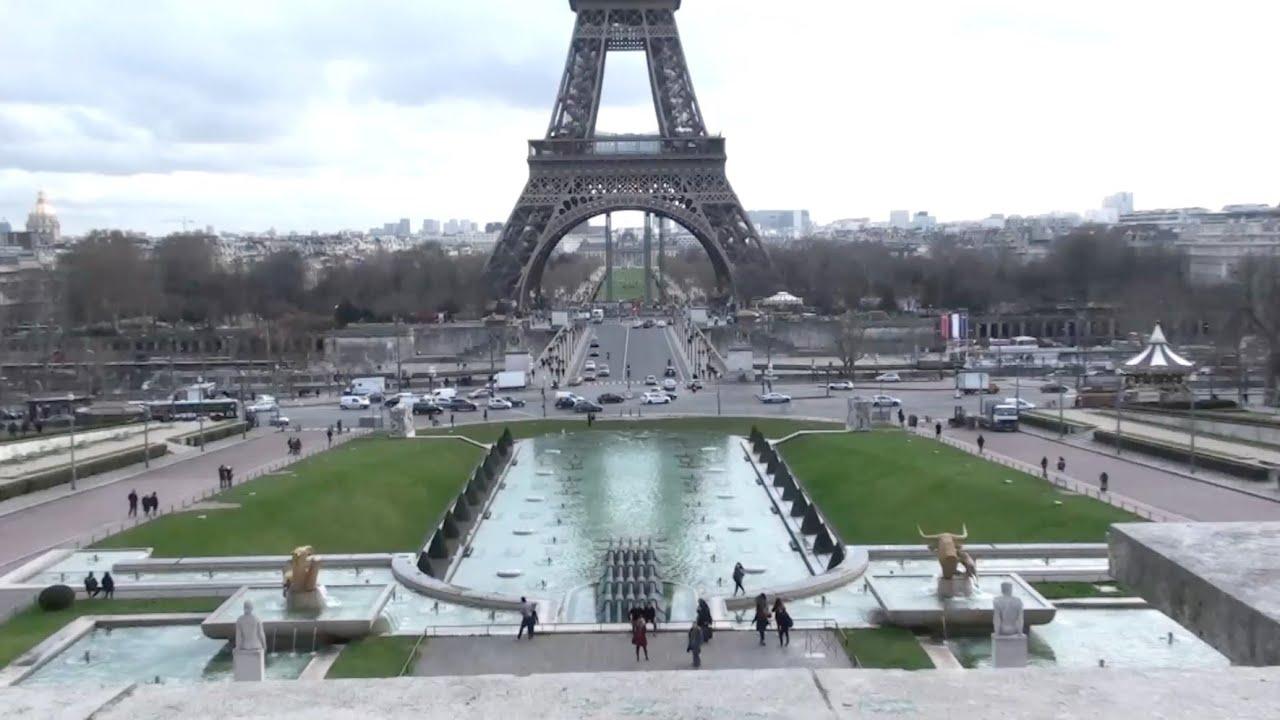 Tour eiffel vue du trocad ro champs de mars pont d for Aquarium de paris jardin du trocadero