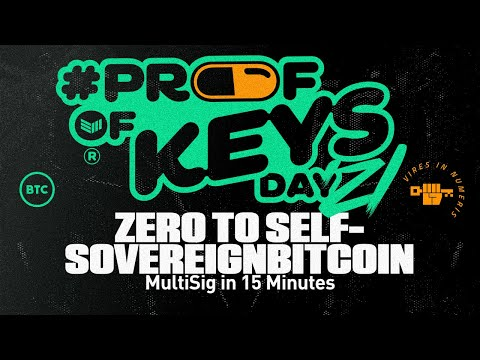Zero To Self-Sovereign Bitcoin Multi Sig In 15 Min Specter Wallet \u0026 Bitcoin Core - Proof Of Keys