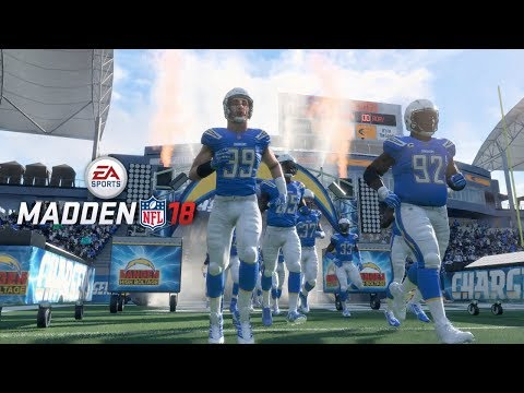 Madden 18 LA Chargers vs LA Rams Gameplay (StubHub Center) Full First Half
