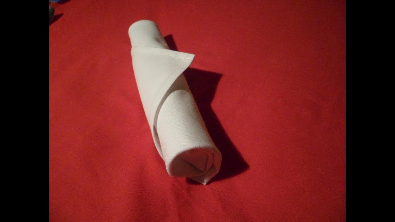 how to fold napkins silverware roll napkin folding youtube