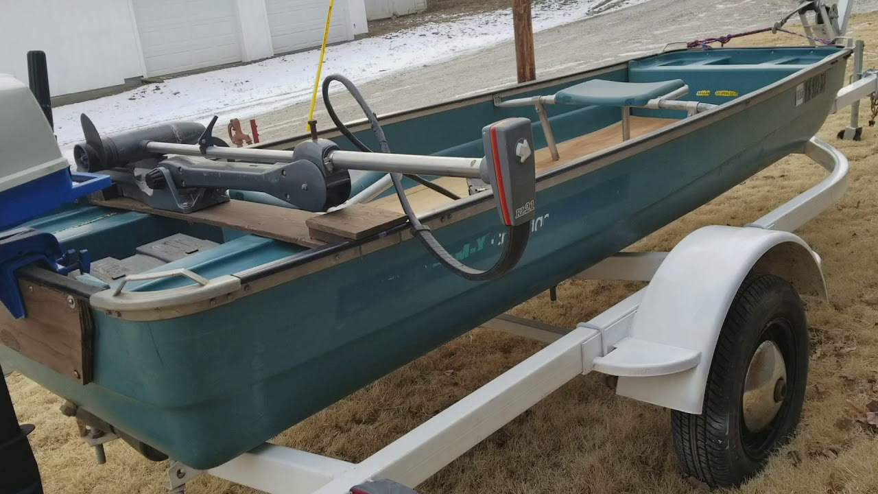 Coleman 12' Flat bottom boat for sale - YouTube