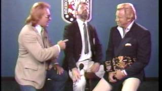 Larry Zbyszko is upset that Nick Bockwinkel was given the title wit...