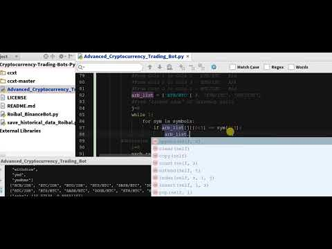 Coding Arbitrage Python Function 4 - Arbitrage Cryptocurrency Bot In Python  - Code  - Ch 5.20