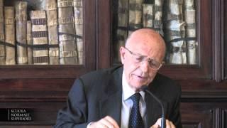 Sabino Cassese, Scuola Normale Superiore - 30 aprile 2013