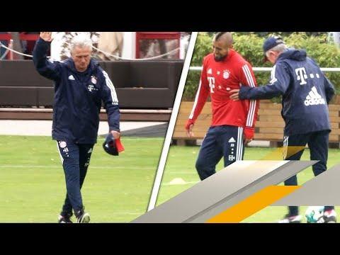 Gut gelaunter Jupp Heynckes trickst im ersten Bayern-Training | SPORT1
