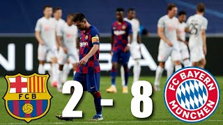Barcelona vs Bayern Munich [2-8], Champions League, Quarter-Final - MATCH REVIEW
