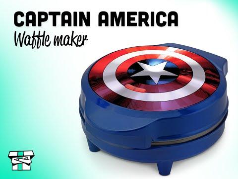 captain america waffle maker gift idea for boyfriend youtube