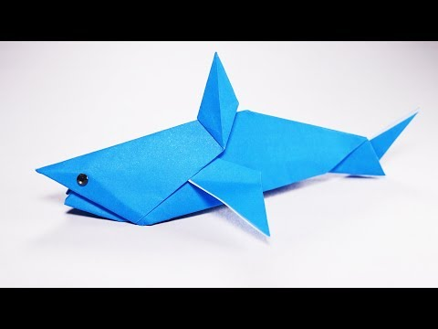 Origami Shark (Anita Barbour) - Paper Folding / Papier Falten / 종이접기 - Paper Crafts 1101 おりがみ