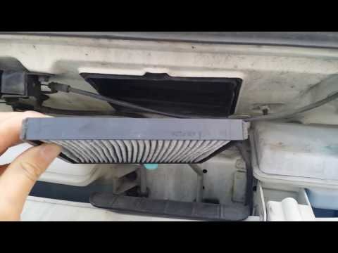 현대 포터2 에어컨 필터 교체(활성탄 필터)