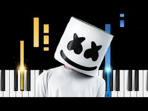 Marshmello ft. Bastille - Happier - EASY Piano Tutorial