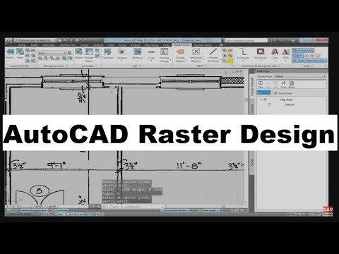 AutoCAD Raster Design Tutorial for Beginners thumbnail