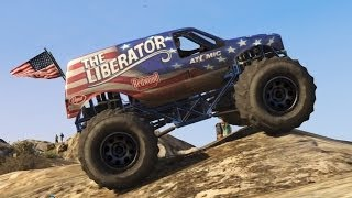 GTA 5 - Off-Road 4x4 - Mountain Climbing in the Monster Truck (GTA Online DLC Liberator Up Chiliad)(Follow my livestreams on Twitch: http://twitch.tv/gtchy1230 ➜ Follow me on Twitter: http://twitter.com/gtchy1230 ➜ Subscribe to join me on the road to 200k ..., 2014-07-03T20:31:18.000Z)