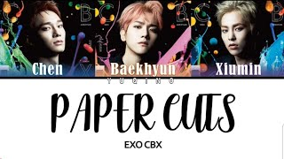 Gambar cover {EXO CBX}   'PAPER CUTS' LYRICS COLOR CODED JPN ROM ENG