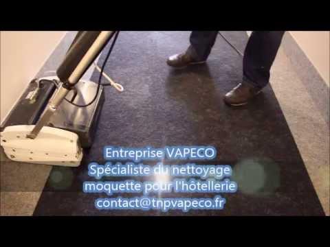 Vapeco nettoyage moquette h tel youtube for Nettoyage moquette