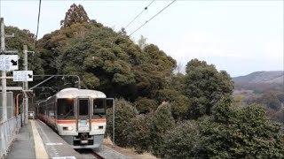 JR身延線の秘境駅!富士山をバックに通過する列車!!【373系】『特急ワイドビューふじかわ号』沼久保駅