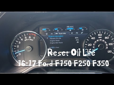 How to Reset Oil Life 2017 Ford F150 F250 F350 2016-2017 Truck