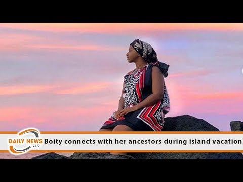 Boity connects with her ancestors during island vacation