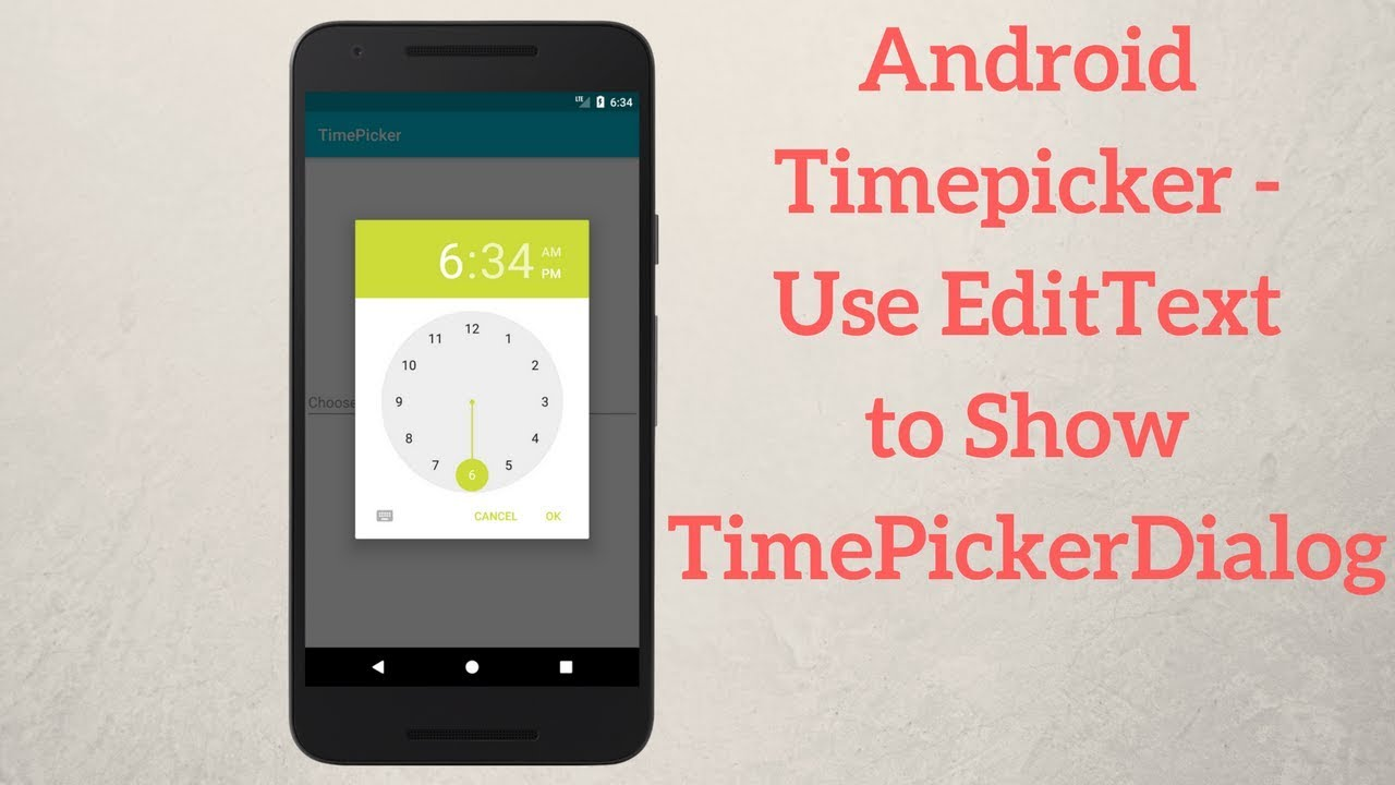 Android Timepicker - Use EditText to Show TimePickerDialog - Coding