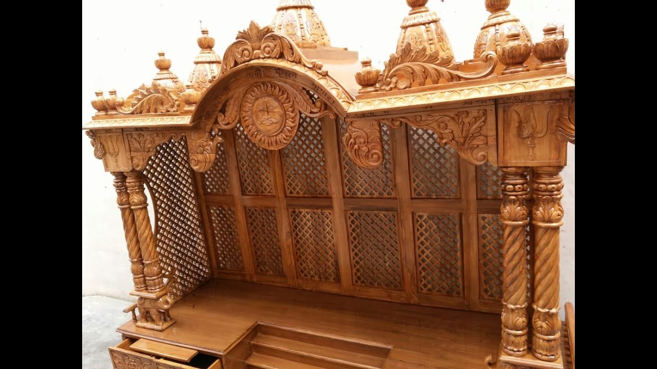 6 Easy Assembly Teak Wood Temple Designer Mandir Ideas For Home Office Aarsun Woods