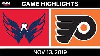 NHL Highlights   WSH vs. PHI - Nov. 13, 2019