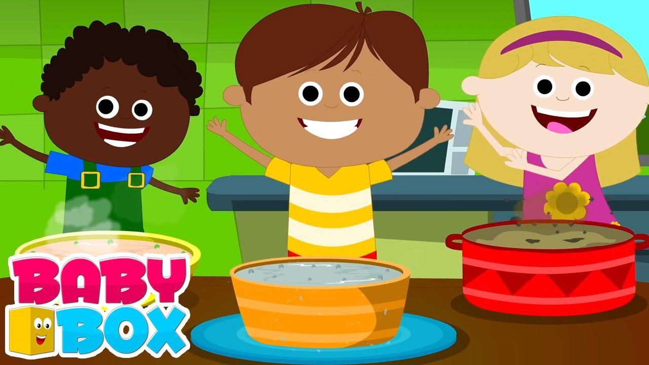 Bubur kacang polong panas   Lagu anak anak   Animasi   Baby Box Indonesia   Kartun anak