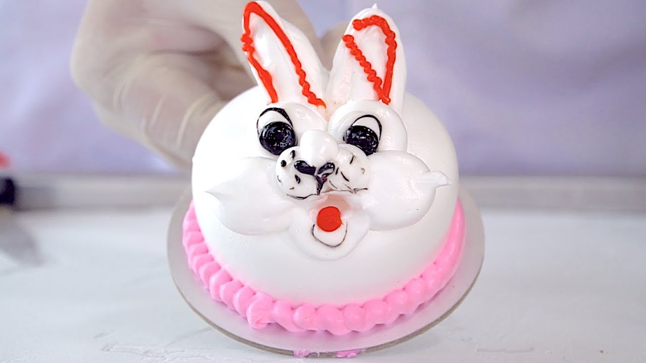 UGLY BUNNY RABBIT CAKE - ICE CREAM ROLLS