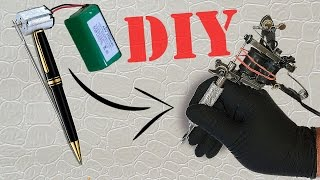 COMMENT FAIRE UN MINI PISTOLET DE TATOUAGE / TATTOO MACHINE | TUTORIEL