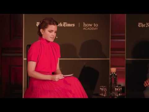 Emma Watson In Conversation With Dr Denis Mukwege Nobel Peace Price
