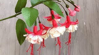 ABC TV | How To Make Double Fuchsia Paper Flower With Shape Punch - Craft Tutorial
