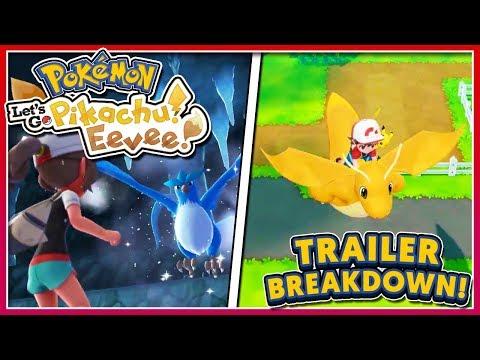 Pokémon Let's Go! Pikachu & Let's Go! Eevee - New TRAILER Breakdown: Legendary Birds & Pokémon GO!